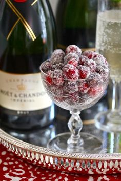 Champagne & sparkling-sugared-cranberries