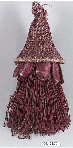 Tassel Date: 18th century Culture: French Medium: Silk Dimensions: L. 7 1/2 inches 19.1 cm