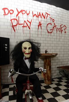 Image result for scary clown tricycle