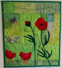 Forårs quilt vægophæng