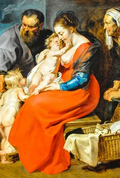 Peter Paul Rubens -   The Holy Family with Saints Elizabeth and John the Baptist, 1615 at Art Institute of Chicago IL