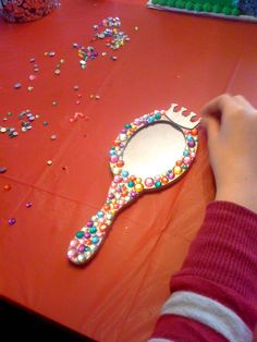 This was a craft at my daughter's Snow White inspired birthday party.