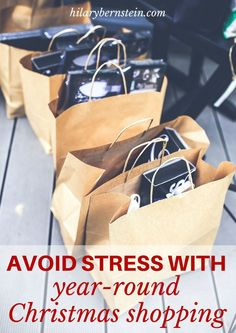 Christmas shopping in December can be SO STRESSFUL. Year-round Christmas shopping relieves stress … it also is a great way to save money and time!