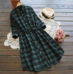 Cupshe Plaid Girls Club Printing Shirt Dress