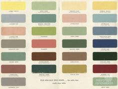 1950s And 60s Paint Colors   From Searsu0027 Classic Harmony House Collection