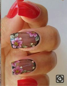 30 Creative Image of Nails Design Ideas Amaze Everyone, You have to prepare your nails and use the base coat. You must make it sure that the nails do match with the remainder of your look. Short nails are g. Elegant Nails, Stylish Nails, Trendy Nails, Hot Nails, Pink Nails, Hair And Nails, Flower Nails, Nails Inspiration, Beauty Nails