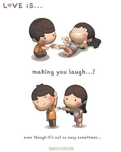 """Check out the comic """"HJ-Story :: Love is. Making you laugh""""… Hj Story, Cute Love Stories, Love Story, Love Is Sweet, What Is Love, Tell Me Something Funny, Amor Real, Cute Love Cartoons, Funny Cartoons"""
