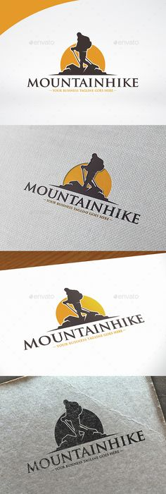 Mountain Hike Logo   PSD Template • Download ↓ https://graphicriver.net/item/mountain-hike-logo-template/15072536?ref=pxcr