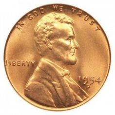 GEM BRILLIANT UNCIRCULATED RED GREAT PRICE! 1954-D LINCOLN CENT