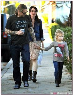 Kurt Sutter, Katey Sagal and their daughter