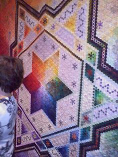 Amazing hexagon quilt