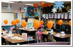 100th Day of School. Balloon Release.