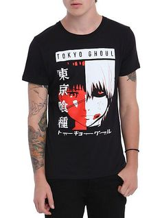 Tokyo Ghoul Split Face T-Shirt | Hot Topic - COSPLAY IS BAEEE!!! Tap the pin now to grab yourself some BAE Cosplay leggings and shirts! From super hero fitness leggings, super hero fitness shirts, and so much more that wil make you say YASSS!!!