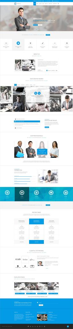 Corporato is fresh clean #PSD template for your #Corporate and Creative Agency, #Finance and Consultant or any type of company websites download now➩ https://themeforest.net/item/corporato-business-psd-template/19191183?ref=Datasata