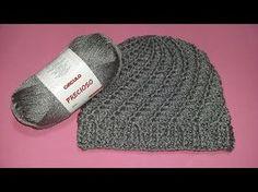 Gorro Precioso Espiral - YouTube Crochet Baby Hat Patterns, Crochet Baby Clothes, Crochet Baby Hats, Crochet Stitches, Knitted Hats, Crochet Cozy, Crochet Girls, Crochet Slippers, Free Crochet