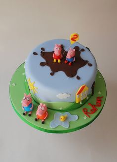 Peppa Pig cake...I love this so much!
