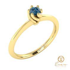 Inel de logodna din aur cu diamant albastru teal blue ESDB28 Aur, Teal, Engagement Rings, Jewelry, Enagement Rings, Wedding Rings, Jewlery, Bijoux, Schmuck