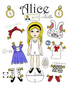 Opposite of Far Story Book, paper-doll, collaboration Alice and the White Rabbit by Christen Noelle