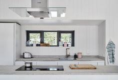 Villa Hagerman, Ljugarn – M. Interior Exterior, Interior Design Kitchen, Timber Roof, Turbulence Deco, Villa, Porch Area, Slow Living, Minimalist Kitchen, Cabin Homes