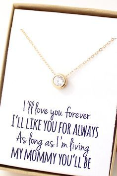 Round Solitaire Necklace - Cubic Zirconia Necklace - Mother In Law Gift - Small Circle Pendant Necklace - Mother's Day Gift on Etsy, $30.00