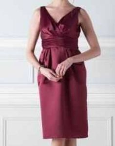 BHS Eleanor Bridesmaid Dress Merlot Sz  20