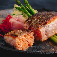 Crispy Salmon & Wasabi Potato Salad