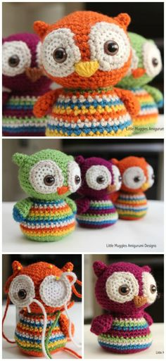Amigurumi Crochet Owl Free Patterns Instructions: Crochet Owl Toys, Ornaments, Baby Gifts, Home Decor, Owl Pillows and Owl Crochet Pattern Free, Crochet Animal Patterns, Owl Patterns, Stuffed Animal Patterns, Free Crochet, Free Pattern, Crochet Animal Amigurumi, Crochet Owls, Crochet Baby Hats