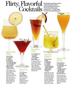These cocktails are flavorful and flirty, according to Cosmopolitan Magazine.