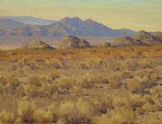 Southern Nevada by Jean LeGassick Oil ~ 9 x 12