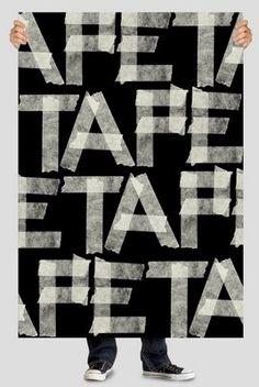 masking tape poster
