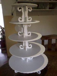 Torre desmontable para cupcakes, 5 pisos.