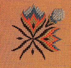 Bargello work-in-progress (not mine, but I could do something like it) Motifs Bargello, Broderie Bargello, Bargello Patterns, Bargello Needlepoint, Needlepoint Stitches, Needlework, Hardanger Embroidery, Cross Stitch Embroidery, Hand Embroidery