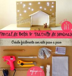 Afbeeldingsresultaat voor belen paso a paso carton Xmas Crafts, Christmas Projects, Portal, Kids And Parenting, Kids Playing, Projects To Try, Christmas Decorations, Diy, Cardboard Box Houses