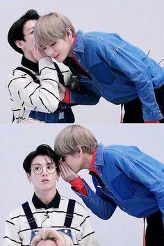 Taekook vkook kookv jeon jungkook kim Taehyung v Bts Memes, Vkook Memes, Meme Meme, Namjin, Taekook, Yoonmin, Foto Bts, Bts Taehyung, Bts Bangtan Boy