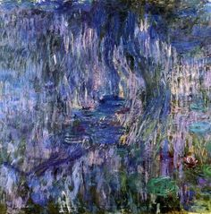 Claude Monet. Water Lilies - Reflection of a Weeping Willow (1919).