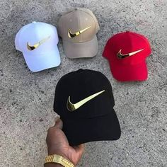 Gold Nike Checks (Single) is part of Nike sandals - Gold Nike Checks by the piece Comes with screws to attach Nike Outfits, Teen Fashion Outfits, Swag Outfits, Fashion Shoot, Nike Sandals, Nike Air Shoes, Sneakers Mode, Sneakers Fashion, Bone Da Nike