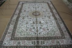 6'x9' Handmade Hand-knotted 450 kpsi Silk Oriental Persian Tabriz Rug B500