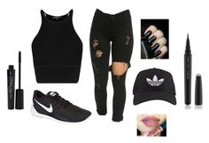 """Lunch"" by aniyahg ❤ liked on Polyvore featuring NIKE, adidas, Smashbox and Marc Jacobs"