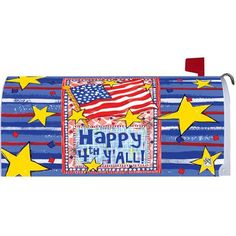 Happy 4th Mailbox Cover