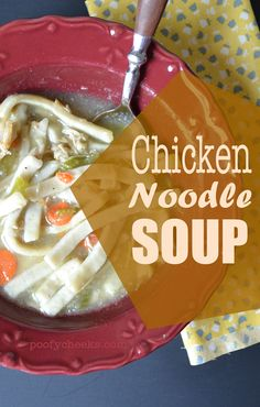Homemade Chicken Noodle Soup - perfect for a cold day!