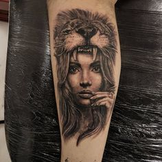 Lion headdress by Scott Rowlands at Underworld Tattoo Co Ebbw Vale Wales