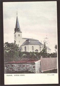 Vangs kirke. Hamar. P.A. 2142. Kolorert.