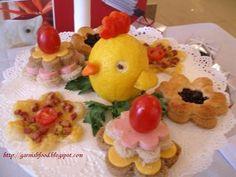 food garnish out of lemon
