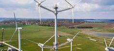 Danish wind turbine company Vestas is testing a multi-rotor wind turbine design, and the new turbine just generated its first kilowatt hour of power.