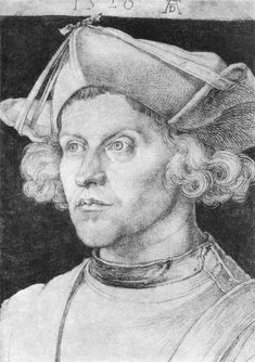 Albrecht Dürer Portrait of an Unknown Man 1520 Chalk, 365 x 258 mm Staatliche Museen, Berlin