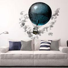 Aerostatic Balloon Wall Sticker//