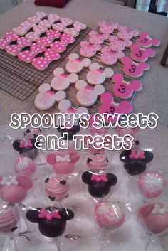 Minnie Mouse Cookies and Cake Pops by SpoonyBakesCake.deviantart.com on @deviantART