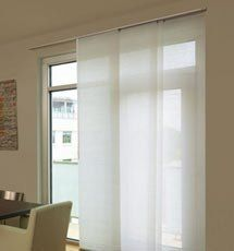 Levolor Panel Track Blinds: Designer Textures Light Filtering by Levolor. $230.00. Levolor panel track blinds offer a versatile solution for larger windows or as a room divider. Protect your view and reduce glare with this Designer Textures Light Filtering material.