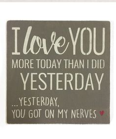 Look at this #zulilyfind! 'I Love You More Today' Wall Sign #zulilyfinds