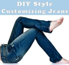 """totally explains how to make your jeans into anything you want, rather simply :)  If you have ever wondered..""""how'd they do that??"""" here is where you find out! Sewing Pants, Sewing Clothes, Diy Clothes, Jeans Fit, Old Jeans, Loose Jeans, Altering Jeans, Sewing Alterations, Schneider"""